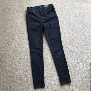 Aeropostale High Waisted Jeggings in black. Size 2